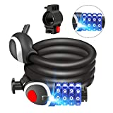 Awroutdoor Candado de Bicicleta Seguridad Candado de Cable Mejor Combinación con Flexible Montaje Cable de Bloqueo antirrobo Alta Seguridad para la Bicicleta al Aire Libre 150cm X12mm