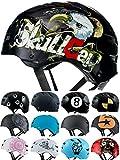 Skullcap Casco BMX - Casco Skate - Casco Bici, Talla: M (55 – 58 cm), Design: Crash-Test...