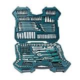 Mannesmann M98430 - Maletín con llaves de vaso y otras herramientas (215 piezas, tamaño:...