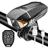 LTPAG Luces de Bicicleta Delantera, Inteligentes Alarma Anti-Robo 800 Lumens Luz Delantera con...