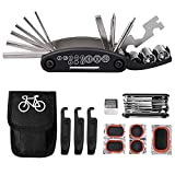 Tagvo Kit de herramientas para bicicleta, 16 en 1 Herramienta multifunción para bicicleta con...
