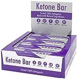 Barra De Cetonas (Caja De 12 Barras) | Snack Bar Ketogénico | Contiene C8 MCT Aceite Puro |...