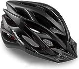 Casco Bicicleta/Casco Bicic con Luz LED,Certificado CE,Casco Ciclismo con Visera y Forro Desmontable Especializado...