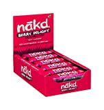 Nakd Barritas de Fruta y Frutos Secos con Frambuesas - Pack de 18 x 35 g, Sin Azúcar Añadido, Sin Gluten, Sin...
