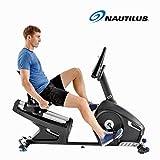 Nautilus R626 - Bicicleta Estática Reclinada, Bluetooth, MP3-sensor táctil y monitor de frecuencia cardíaca...
