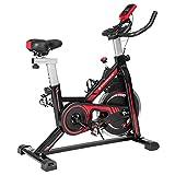 SONGMICS Bicicleta spinning, Bicicleta estática, para fitness en casa, con manillar ajustable, asiento y...