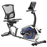 TechFit R410 Bicicleta Estática Reclinada, Ideal para el Entrenamiento de Recuperación, Sillín Ajustable,...