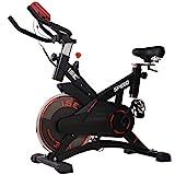 ISE Bicicleta Estática de Spinning Profesional con Sensor de Pulso,Ajustable Resistencia, Pantalla, Bicicleta...