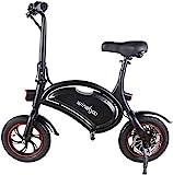 Windgoo Bicicleta Electrica 36V Plegable - E-Bike 12', Actualizar Bici Electrica Urbana Ligera para Adulto (Negro)