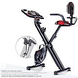 Bicicleta estática plegable Sportstech F-Bike X100-B con sistema de resistencia inteligente, respaldo de inercia...