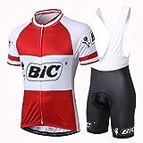 Alpediaa Maillot Ciclismo Hombres BIC Maillots de Bicicleta Conjunto de Jersey de Manga Corta Top MTB Manga Corta...