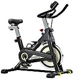 SOVNIA Bicicleta Estatica de Spinning profesional Bici Ejercicio con soporte para iPad, monitor LCD y cómodo...