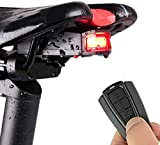 Luz Trasera de Bicicleta Luces Inalámbrico y Inteligente de Alarma Antirrobo LED Impermeables IPX65 Recargada por...