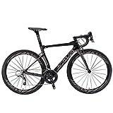 SAVADECK Phantom 2.0 700C Bicicleta de Carretera de Fibra de Carbono Shimano Ultegra R8000 22-Velocidad Sistema...