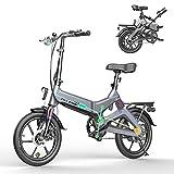 HITWAY Bicicleta eléctrica GEARSTONE, Ligera, 250 W, Plegable, eléctrica, con Asistencia de Pedal, con batería...