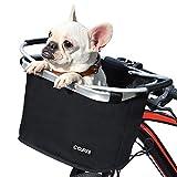 COFIT Canasta de Bicicleta Plegable, Canasta de Manillar de Bicicleta Multiusos Extraíble para Porta Mascotas,...