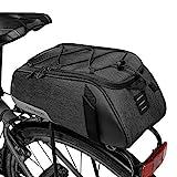Lixada Bolsa Trasera para Bicicleta Multifuncional Alforja Trasera Bicicleta Bolsa de Hombro para Ciclismo al Aire...