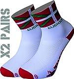 TKS Pack 2 Pares Calcetines EUSKADI Softair+, Ciclismo, Running, Triatlon Y Senderismo (M(40-42))
