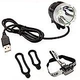 Vococal - 1800LM USB Powered Ciclismo Bici Bicicleta T6 luz lámpara Principal del LED