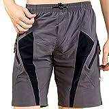 Santic–Pantalones de ciclismo amplios y acolchados para hombre Coolmax, tallas desde la M a la XXL, en color...