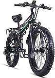 Sheng Milo Beach Bicicleta eléctrica 26 Pulgadas 1000W Crucero Todoterreno Carreras de montaña 21 velocidades 4.0...