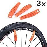 JZK 3 Palancas de neumáticos de Bicicleta Premium endurecido plástico de Nylon Kit de Herramientas de reparación...
