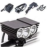 BoFeite Lámpara de la Bici del búho, LED Frontal para Manillar de Bicicleta + Paquete + Cargador de la batería,...