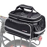 Selighting Bolsa Alforja Trasera Bicicleta Impermeable Bolso de Viaje Portátil Extensible Bolsa de Hombro para...