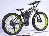 Bicicletas Eléctricas, 1000W Bici de montaña eléctrica 26 '' Neumático gordo E-Bike 48V 13AH Playa Cruiser...