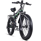 Skyzzie Bicicletas eléctricas Bicicleta de Eléctrica Montaña Plegables 26' 48V 1000W E-Bike/Bici de...