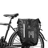 BAIGIO Alforjas para Portaequipajes de Bicicleta, Impermeable Bolsas Alforjas Traseras para Bicicletas MTB...