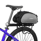 Lixada Bolsa Trasera para Bicicleta Multifuncional Bolsa de Asiento Trasero Bolsa de Hombro para Ciclismo al Aire...