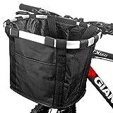 ZCZY Cesta para Bicicleta,Canasta de Bicicleta Plegable,Desmontable Cesta de Manillar de Bicicleta,Impermeable...