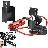 AFASOES Candado Disco Moto Candado Patinete Electrico con el Cable de Recordatorio Candado para Freno de Moto...