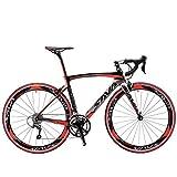 SAVA Bicicleta de Carretera de Fibra de Carbono 700C SHIMANO R3000 18 -Velocidad Sistema 8.6kg/18.99lb Bicicleta...