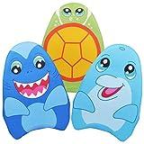 JOYIN Aprender-a-Natar Tiburón&Delfín&Tortuga 3 Paquetes para Niños, Tabla de Entrenamiento de Natación para la...