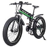 GUNAI Bicicleta eléctrica de montaña, 26' 1000W Batería 48V E-Bike Sistema de Transmisión de 21 Velocidades con...