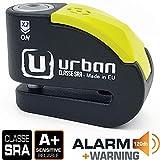 Urban Security UR10 Candado Antirrobo Moto Disco Alarma 120db, Avisador, A+, Doble Cierre ø10, homologado Sra,...