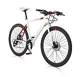 MBM Bicicleta Híbrida Skin Aluminio Freno de Disco hidráulico 28' (Blanco, 54)