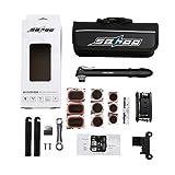 Mini Bomba de Bicicleta, SAHOO Kit Reparador De Neumáticos Kit Pinchazos de Bici Portátil Bomba de aire para...