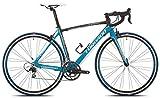 Torpado - Vélo de route 10v carbone, taille 49, couleur noir et bleu