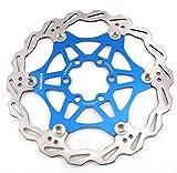 Freno de disco MTB, Bicicleta de Montaña 160mm 180mm 203mm flotante Freno disco rotores compatible con Shimano,...