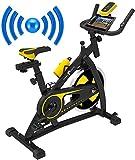 Nero Sport Bluetooth Bicicleta de Ejercicios Aeróbicos Spinning para Interiores Bicicleta Estática de...