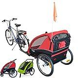 Papilioshop B-Fox Fox - Remolque de bicicleta, para el transporte de 2 niños: Cochecito con ruedas delanteras...