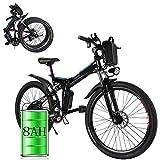 Bunao Bicicleta eléctrica de montaña, Batería 36V 8AH E-Bike 7 Sistema de Transmisión de Velocidades con...