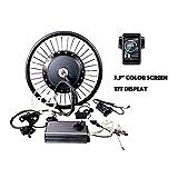 theebikemotor 19' Motorcycle Rear Wheel 72V8000W Hub Motor Bicicleta eléctrica Kit de conversión 150Amp Sine Wave...