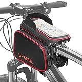 COFIT 3 en 1 Bolsa de Manillar para Bicicleta de Gran Capacidad Verde, Funda para Bicicleta-Rojo y Negro