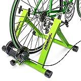 Relaxdays 10018322 - Bicicleta estática, convierte bicicleta común a estática, color verde, talla 54 x 46 x 20...