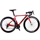 SAVADECK Phantom 8.0 700C Bicicleta de Carretera con Fibra de Carbono para Bicicletas con Campagnolo Chorus 22...