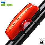Luz Trasera Impermeable para Bicicleta Recargable USB – TOMOUNT Potente LED 6 Modo de Iluminación Faro Trasero...